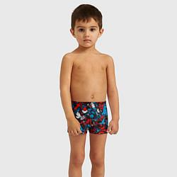 Плавки для мальчика Стикербомбинг цвета 3D — фото 2