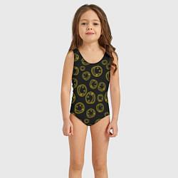 Купальник для девочки Nirvana Pattern цвета 3D — фото 2