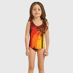 Купальник для девочки Summer Surf цвета 3D — фото 2