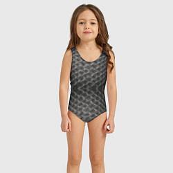 Купальник для девочки Черная кожа цвета 3D — фото 2