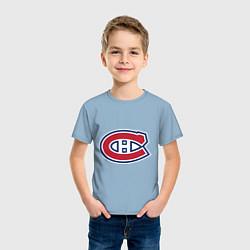 Футболка хлопковая детская Montreal Canadiens цвета мягкое небо — фото 2