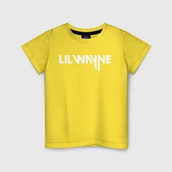 Футболка хлопковая детская Lil Wayne цвета желтый — фото 1