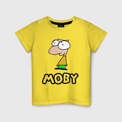 Футболка хлопковая детская Moby цвета желтый — фото 1