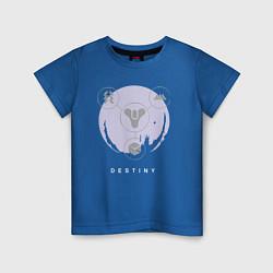 Футболка хлопковая детская Destiny Planet цвета синий — фото 1
