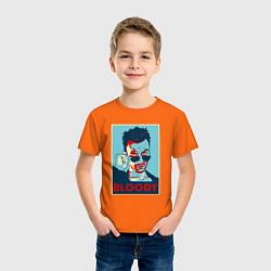 Футболка хлопковая детская Bloody Poster цвета оранжевый — фото 2