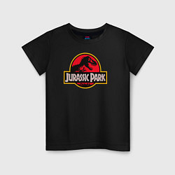 Футболка хлопковая детская Jurassic Park цвета черный — фото 1