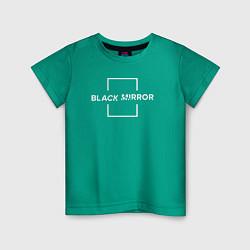 Футболка хлопковая детская Black Mirror цвета зеленый — фото 1