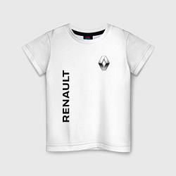 Футболка хлопковая детская Renault Style цвета белый — фото 1
