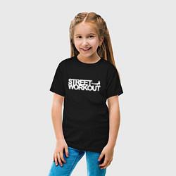 Футболка хлопковая детская Street WorkOut цвета черный — фото 2