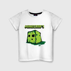 Футболка хлопковая детская Minecraft Creeper цвета белый — фото 1