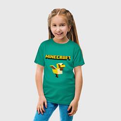 Футболка хлопковая детская Minecraft Duck цвета зеленый — фото 2