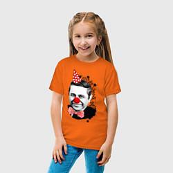 Футболка хлопковая детская Евгений Петросян клоун цвета оранжевый — фото 2