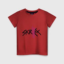 Футболка хлопковая детская Skrillex: violet цвета красный — фото 1