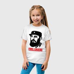 Футболка хлопковая детская Fidel Castro цвета белый — фото 2