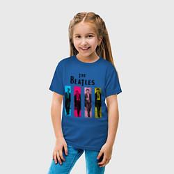 Футболка хлопковая детская Walking Beatles цвета синий — фото 2