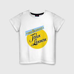 Футболка хлопковая детская John Lennon: The Beatles цвета белый — фото 1