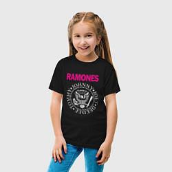 Футболка хлопковая детская Ramones Boyband цвета черный — фото 2