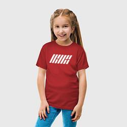 Футболка хлопковая детская IKON цвета красный — фото 2