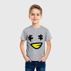 Футболка хлопковая детская Смайл - Бакс цвета меланж — фото 2
