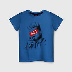 Футболка хлопковая детская Allj Supreme цвета синий — фото 1