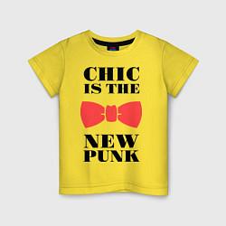 Футболка хлопковая детская Chic is the new punk цвета желтый — фото 1