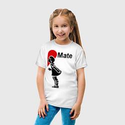 Футболка хлопковая детская Soul Mate: Girl цвета белый — фото 2