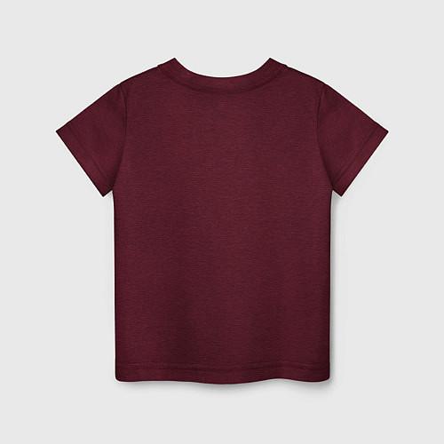 Детская футболка Nero / Меланж-бордовый – фото 2