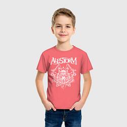 Футболка хлопковая детская Alestorm: Pirate Bay цвета коралловый — фото 2