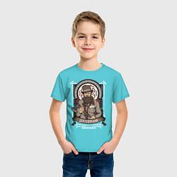 Футболка хлопковая детская Достоевский Федор цвета бирюзовый — фото 2