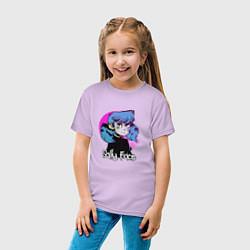 Футболка хлопковая детская Sally Face цвета лаванда — фото 2