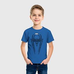 Футболка хлопковая детская Black Spider-Man цвета синий — фото 2