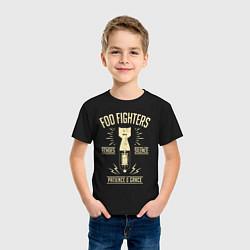 Футболка хлопковая детская Foo Fighters: Patience & Grace цвета черный — фото 2