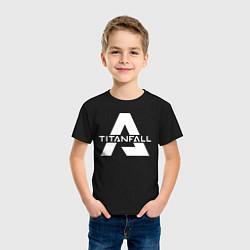 Футболка хлопковая детская Apex Legends x Titanfall цвета черный — фото 2