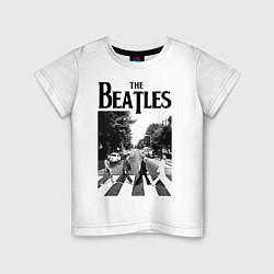 Футболка хлопковая детская The Beatles: Mono Abbey Road цвета белый — фото 1