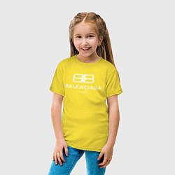 Футболка хлопковая детская Balenciaga Paris цвета желтый — фото 2