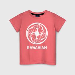 Футболка хлопковая детская Kasabian: Symbol цвета коралловый — фото 1