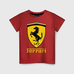 Футболка хлопковая детская FERRARI цвета красный — фото 1