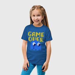 Футболка хлопковая детская Pac-Man: Game over цвета синий — фото 2