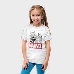 Футболка хлопковая детская Thor & Captain America цвета белый — фото 2