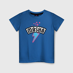 Футболка хлопковая детская Маша звезда цвета синий — фото 1