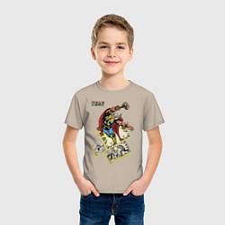 Футболка хлопковая детская Thor цвета миндальный — фото 2