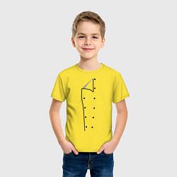 Футболка хлопковая детская Шеф повар цвета желтый — фото 2
