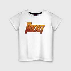 Футболка хлопковая детская Rocket цвета белый — фото 1