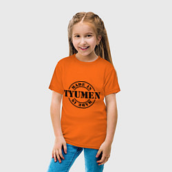 Футболка хлопковая детская Made in Tyumen цвета оранжевый — фото 2