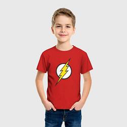 Футболка хлопковая детская Flash цвета красный — фото 2