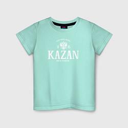 Футболка хлопковая детская Казань Born in Tatarstan цвета мятный — фото 1