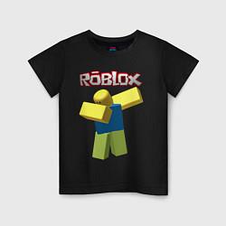 Футболка хлопковая детская Roblox Dab цвета черный — фото 1