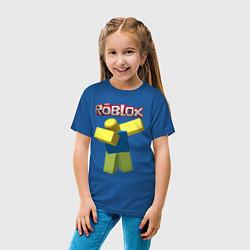 Футболка хлопковая детская Roblox Dab цвета синий — фото 2