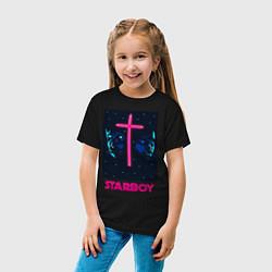 Футболка хлопковая детская STARBOY цвета черный — фото 2