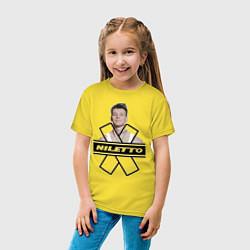 Футболка хлопковая детская NILETTO цвета желтый — фото 2